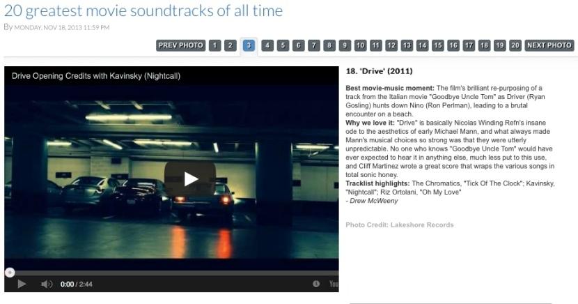 Drive Top soundtracks