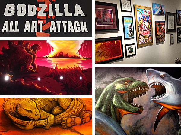 Creature Features Godzilla All Art Attack Show Los Angeles.