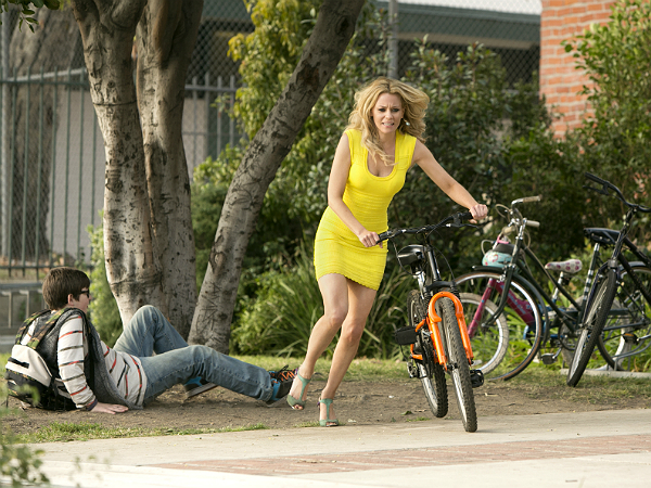 "Lakeshore Records: Elizabeth Banks steals a bike in ""Walk of Shame."""